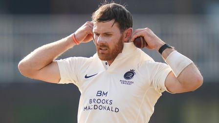 Middlesex's James Harris claimed his 500th first-class wicket on day two of their match with Gloucestershire