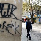 The graffiti tag Milk has appeared at locations across Norwich city centre.