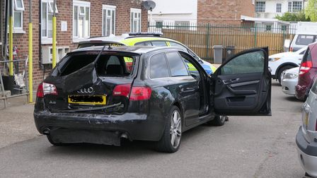 Car believed to have 'ballistic damage' following a shooting in Kingsbury