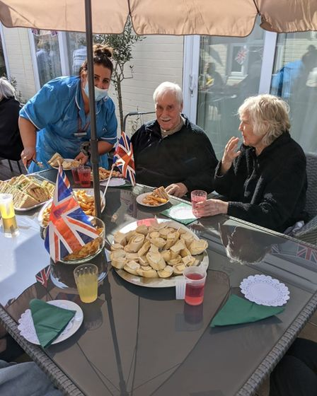 Early VE Day anniversary celebrations were held at Spring Lodge care home in Woolverstone, near Ipswich