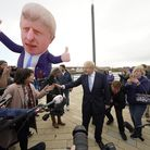 Prime Minister Boris Johnson at Jacksons Wharf in Hartlepool, County Durham