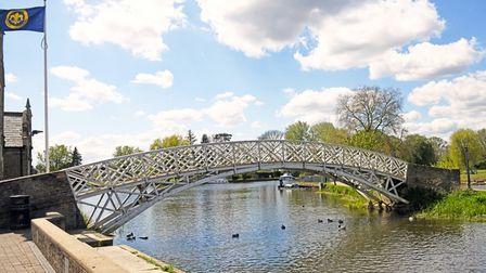 One of Godmanchester's best known landmarks is the Chinese Bridge.