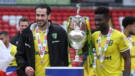 Mario Vrancic and AlexTettey signed off in style with a Championship trophy on their final Norwich City appearances
