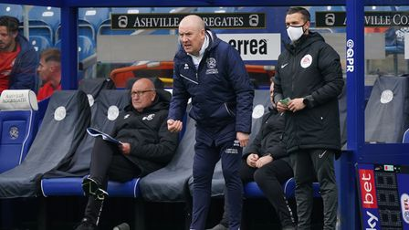 QPR manager Mark Warburton shouts instructions during the Sky Bet Championship match against Luton