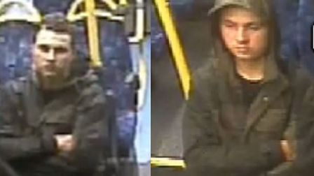 CCTV footage on 364 bus towards Dagenham of a man wanted in connection with Maria Jane Rawlings murder