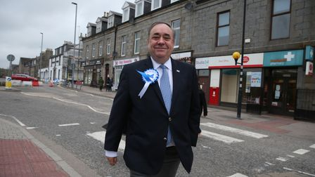 ALBA party leader Alex Salmond in Ellon as votes continue to be counted for the Scottish Parliamentary Elections