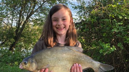 Lana Bartlett with her 4lb Bream