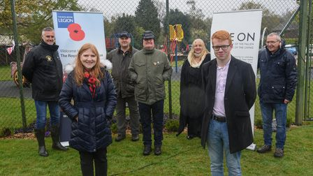 Old Catton Royal British Legion members Nathan Wride, secretary, Neil Shiach, committee member and s