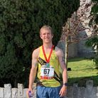 Clevedon AC's James Foster at the Glastonbury 10k Road Run