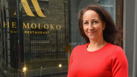 Zoe Cutting, owner of The Moloko cocktail bar and tapas restaurant on Lion Street in Ipswich. Pictur
