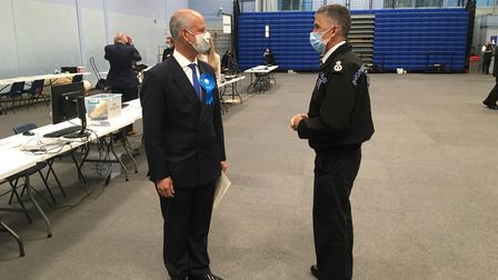 Mark Shelford and chief constable Andy Marsh