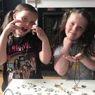 Chloe, left, and Milly Nock with some of their jewellery designs