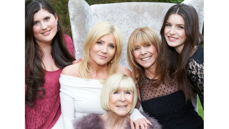 Mary Collins with granddaughterMaia, daughters Michelle and Vicki, and granddaughtercharlotte