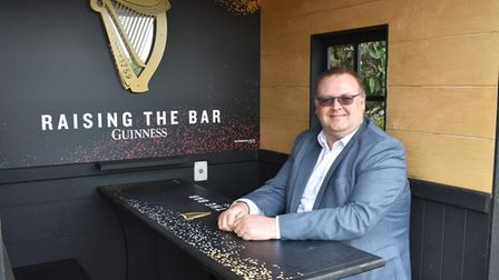 David Graham, Dunston Hall, Norwich with a Guinness pod