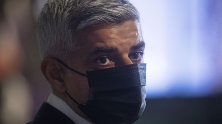 Labour's Sadiq Khan at City Hall, London, for the declaration for the next Mayor of London. Picture