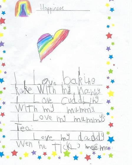 Franki's winning entry for the Book of Happiness.