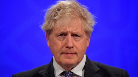 """File photo dated 20/4/2021 of Boris Johnson who has vowed to """"look forward"""" past the pandemic as he"""