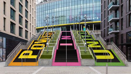 A new art installation on the 'Spanish Steps' at Wembley Park, Brent, London.Chris Winter / Wemble