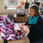 The quilt created by Jonquil has raised more than £425.