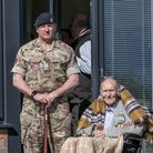 Reg Millns withRoyal Engineers, Warrant Officer Brian Durber.