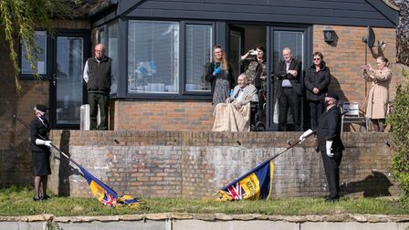 There were standard bearers at Reg's home to mark the occasion.
