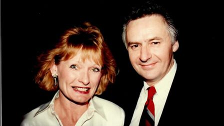 Geoff Cox pictured with wife Kay