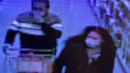 Suffolk police have issued CCTV images following the shoplifting at Copdock B&M