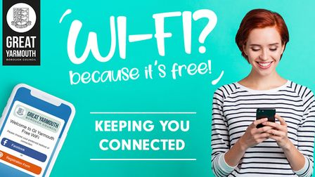 Advert for the new free wifi service in the town centre