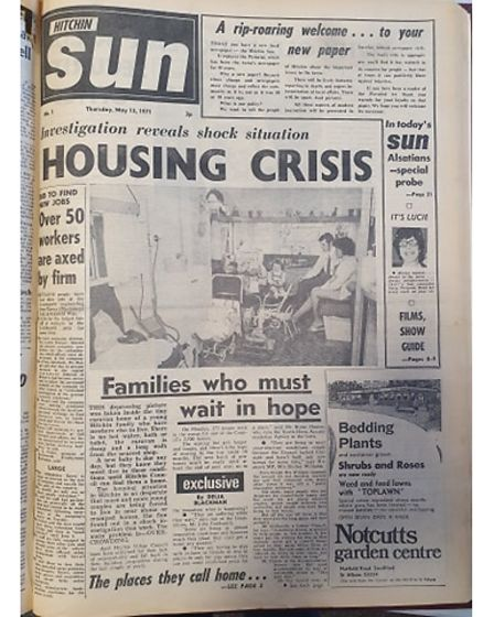Hitchin Sun front page May 12 1971