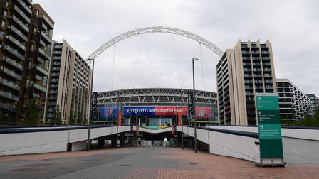 General view of an empty Wembley Way