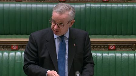 Cabinet Office minister Michael Gove updates MPs in the House of Commons, London, on the deal struck