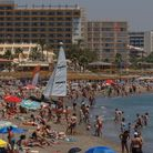 Costa del Sol beach near Torremolinos.