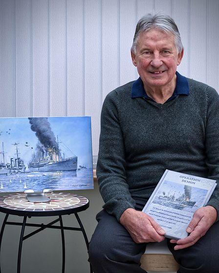 Portishead author Brian James Crabb with his latest publication, Operation Demon.