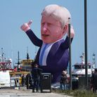 A 30ft inflatable Boris Johnson at Jacksons Wharf in Hartlepool following the Conservative's victory in Hartlepool