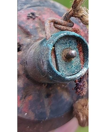 The device, which was found in Hitchin this afternoon,is suspected to be a JapaneseType 97 grenade dating from the 1930s