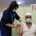 A Haringey nurse administers a Covid-19 vaccine