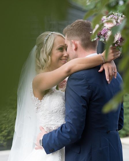 Jessica and Jack Walden on their wedding day