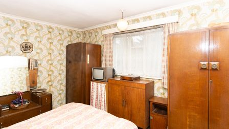 One of the property's three bedrooms.
