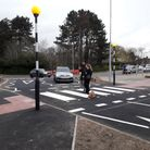 New zebra crossing on Chells Way in Stevenage