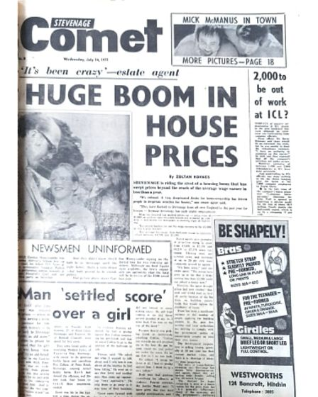 Housing prices story The comet