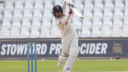 Shan Snater hits 4 runs for Essex during Nottinghamshire CCC vs Essex CCC, LV Insurance County Cham