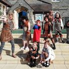 Teachers and pupils enjoyed learning about the Stone Age.
