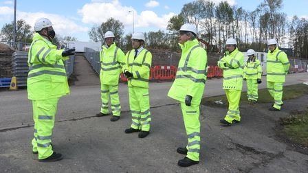 MP Steve Barlay meets with HIghways England officials at the Guyhurn roundabout