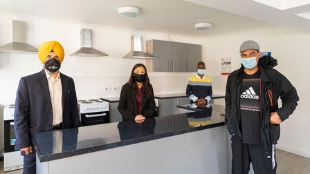 Opening of Ryedale scheme which has 18 new studio flats for rough sleepers in Ilford.
