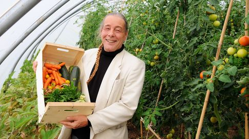 Bob Flowerdew, when he visited Norwich FarmShare.