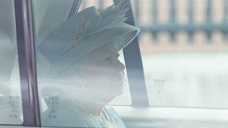 Queen Elizabeth II leaves Buckingham Palace by car to deliver the Queen's Speech during the State Op