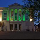 St Albans Museum is being illuminated in green to mark the end of Ramadan and Eid.