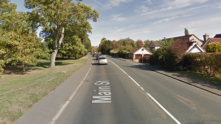 Man arrested on suspicion of drink driving after collision in Main Street, Huntingdon.