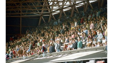 Stands at Portman Road filling up ready for Dire Straits to play in June 1992