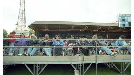 All ready for Dire Straits to take to the stage at Portman Road, Ipswich, in 1992